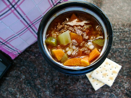 Hamburger Soup in a Thermos