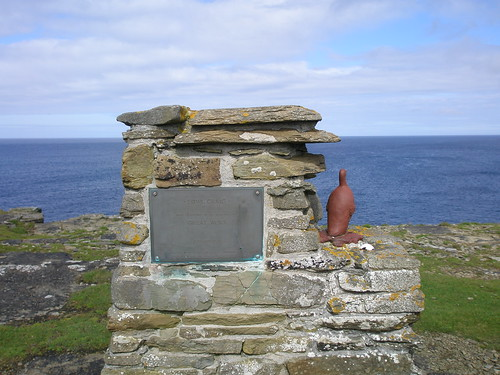Statue to one of the world's last great auks, killed here in 1832