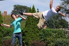 IN DAH FACE! (Randy Wade) Tags: party pool face kick tubes dive trampoline front flip randy noodles wade splash frontflip randywade