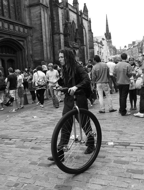 Fringe 2010 - big wheel unicycle