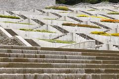( /  / POHAN) Tags: water japan architecture stair  kansai  awaji tadaoando     yumebutai  hyoko