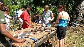 Building boats in Tanga