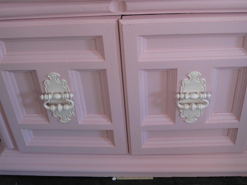 Painted China Cabinet, Pink, Finished 2
