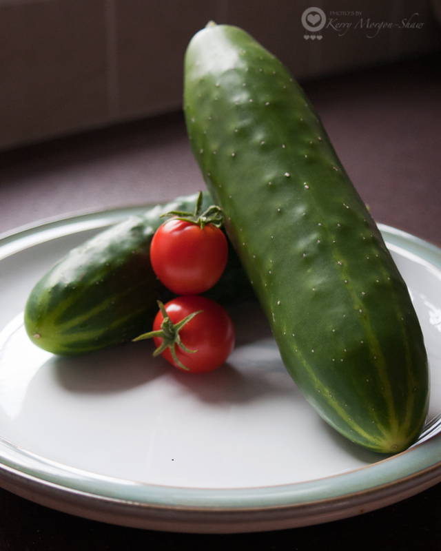 Homegrown cucumber