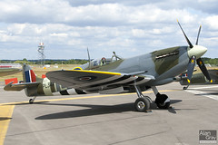 G-IXCC VICKERS SUPERMARINE SPITFIRE IXC unknown PRIVATE Spitfire Ltd  - 100724 - Farnborough - Alan Gray - IMG_9330
