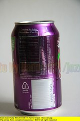 Soda Can Study 482 2010-08-14 Fanta Grape 12oz can (Badger 23 / jezevec) Tags: pictures advertising aluminum soft beverage can drinks american packaging products soda grape refrigerante fanta fizzy consumer reference 2010 ounces 12oz gaseosa 355ml sodavand  virvoitusjuoma karastusjook
