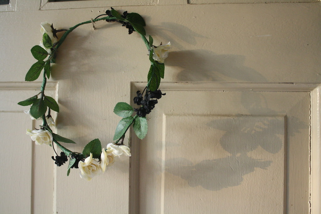 handmade floral hair wreath