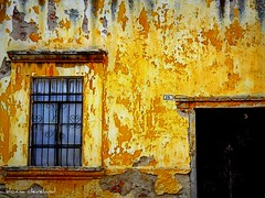 seriously weathered (msdonnalee) Tags: door house window yellow facade mexico ventana casa puerta peeling paint decay oldhouse adobe mexique porte portal peelingpaint fachada mexiko weatheredwall yellowstucco photosfromsanmigueldeallende fotosdesanmigueldeallende weatheredyellowstucco