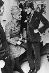 Catherine Deneuve with Yves Saint-Laurent (Famous Fashionistas (First)) Tags: 1968 catherinedeneuve yvessaintlaurent vintagefashion 1960s 1960sfashion