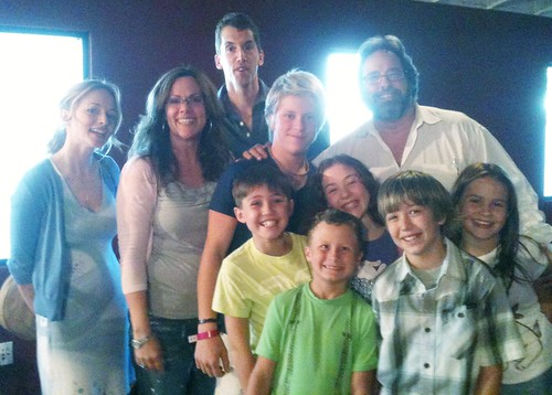 Gary Spatz with Heather Graham and the young cast of Judy Moody