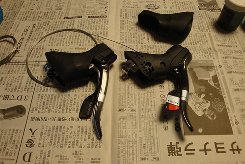 Sram Doubletap lever dismantle 01