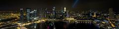 Marina Bay, Singapore (180 Panorama from Skypark, Marina Bay Sands) (Thainlin Tay) Tags: panorama night marina bay singapore casino citylights nightscene sands 180 mbs skypark