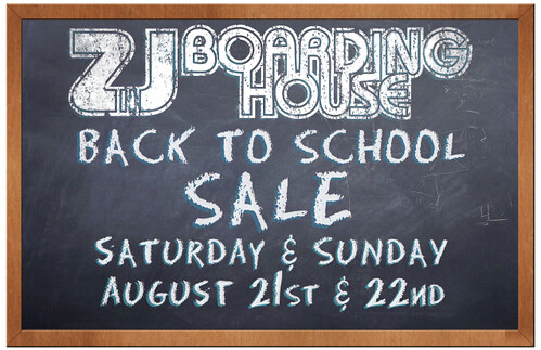 ZJ Boarding House back to school