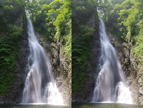 The first fall of Anmon falls, 3D prallel prallel view
