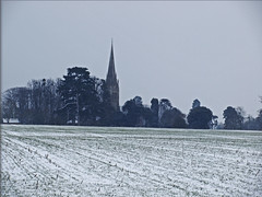 Highnam Holy Innocents across the winter fields