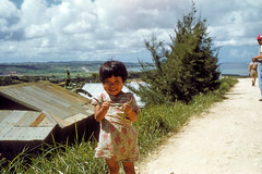 Cute little Okinawan Girl - Sep 53 (Phil Roeder) Tags: color zeiss asia 1950s kodachrome ikon koreanwar contessa scancafe