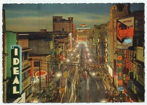 Riza Ave, Manila, Philippines postcard 1930's