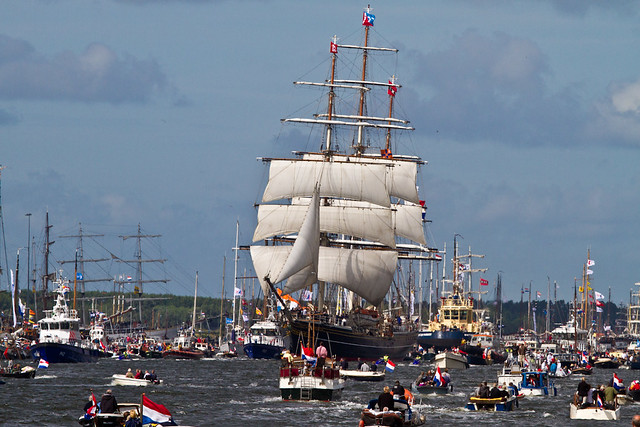 Sail 2010, the parade through Noordzeekanaal.