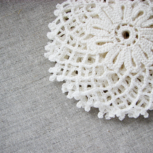 crocheted doilies