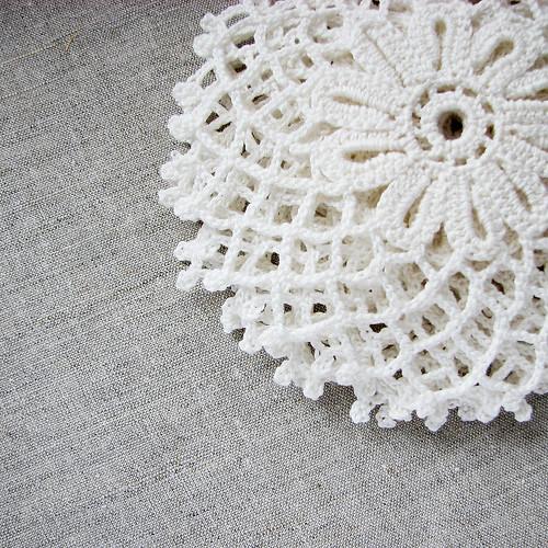 crocheted doilies