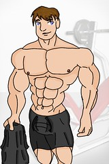 Calendar6 (greeneear) Tags: art drawing muscle cartoon shorts bulge