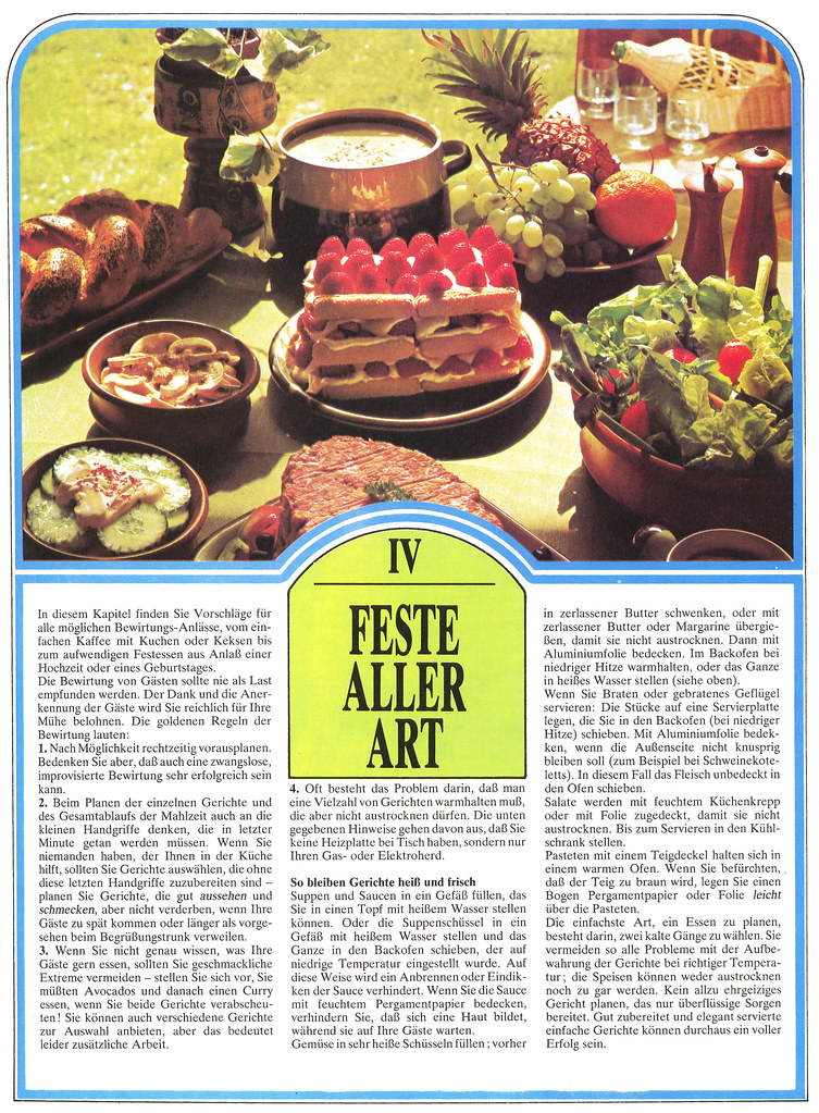 Extracts from an old german cookbook