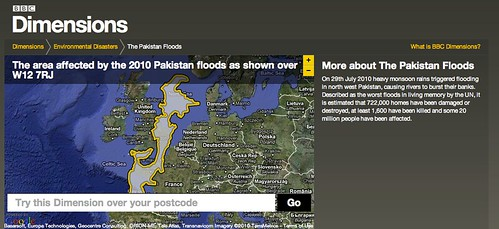BBC Dimensions: Area affected by the 2010 Pakistan Floods