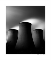 Rugeley Power Station (Mike. Spriggs) Tags: longexposure bw cloud tower station power towers steam coal vapour cooling fired rugeley ndfilter