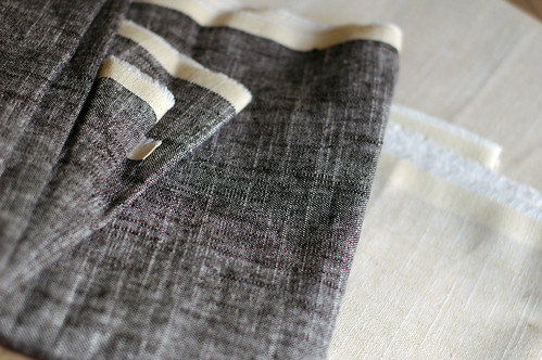 slubby linen/cotton