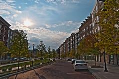 West Broad Village (Daddy Oh) Tags: street sky photoshop nikon hdr 4xp 2ev d300s westbroadvillagesky72265ex2evps