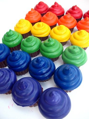 Rainbow Cupcake crayons