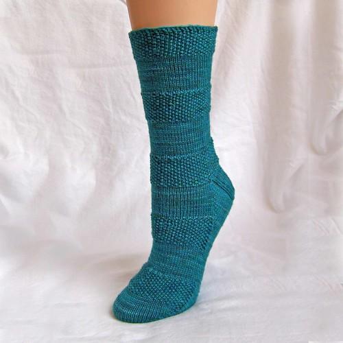 Seed Stitch Hoodie Socks