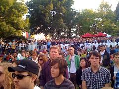 Mural concert audience during HLAK