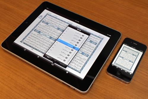 ... iPad の方がフォントが多い