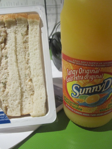 chicken sandwich and Sunny D from the dep - $5.45