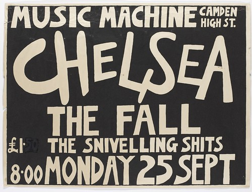 TM0077. Chelsea, The Fall, The Snivelling Shits, Gig Poster, The Music Machine, London 1978