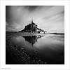 Mont St. Michel (Ian Bramham) Tags: longexposure bw france abbey landscape photography photo nikon fineart montstmichel d700 ianbramham 1635vr leebigstopper