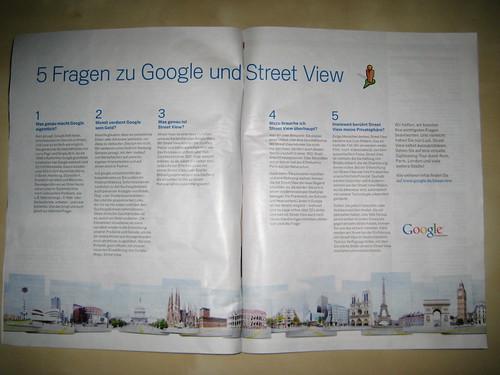 Google StreetView Anzeige im Spiegel 33/16.8.10