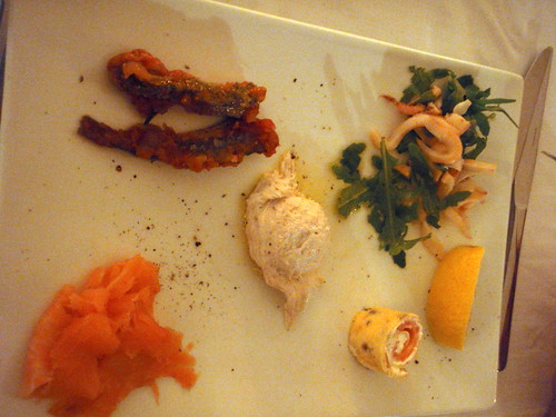 Classical fish-based antipasto