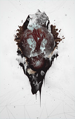 (Fregezechen) Tags: red sea white abstract black work cool nice rocks hand graphic space digitalart corall sergeyvlasov fregezechen