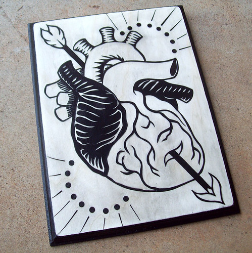 """Through the Heart"" Papercut"