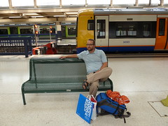Waiting for the train at Euston Station back to Hemel Hampstead.