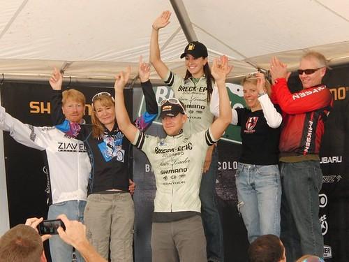 Stage 3 overall podium
