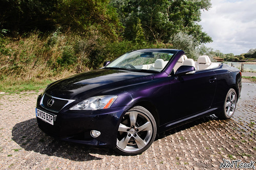 Purple 2009 Lexus IS 250 Convertible High Mostly Side On Front Quarter