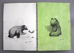 :: (fil gouvea) Tags: bear ink watercolor drawing desenho urso aquarela nanquin