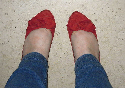 red outfit - shoes