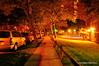 Colors of night (Rafakoy) Tags: street city newyorkcity longexposure light ny newyork cars night dark walking dusk pavement walk late avenue nite nikond90 afsnikkor18105mmvr aldorafaelaltamirano rafaelaltamirano aldoraltamirano