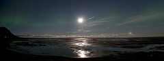 The Moon, Jupiter and northern lights - by Stjörnufræðivefurinn