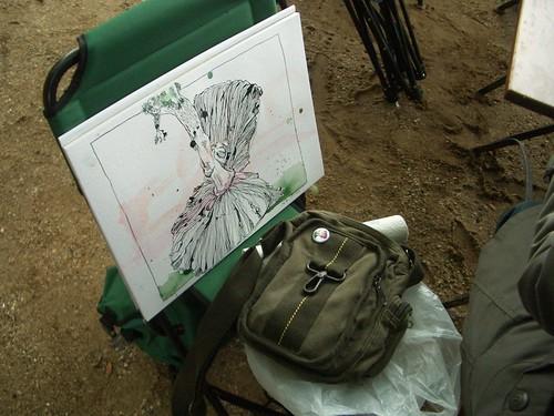 Pilz. Zeichnung von Susanne Haun.