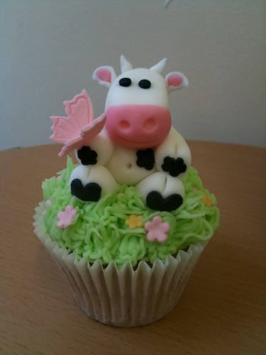 Giant Cow Cupcake